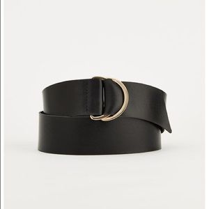 New! Ann Taylor Wide Ringed Leather Belt XS/S